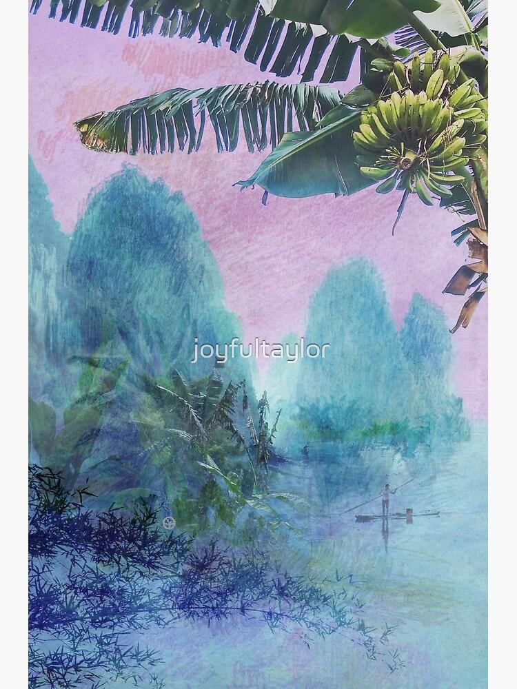 Banana tree & Pink Sunset Mountainscape  by joyfultaylor