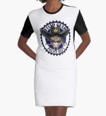 Fixed Gear Police Graphic T-Shirt Dress