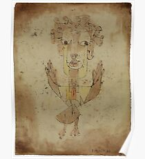 Paul Klee - Angelus Novus. Abstract painting: abstract art, geometric, Angelus,  Novus, lines, forms, creative fusion, spot, shape, illusion, fantasy future Poster