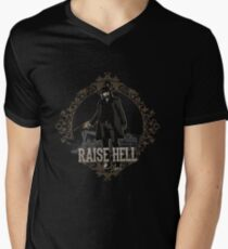 Raise Hell on Union Pacific Men's V-Neck T-Shirt
