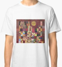 Paul Klee - Castle And Sun. Abstract painting: abstract art, geometric, Castle , composition, lines, forms, Sun, spot, shape, illusion, fantasy future Classic T-Shirt