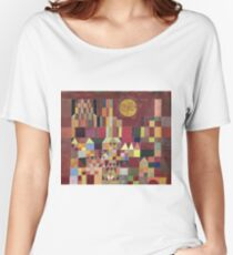 Paul Klee - Castle And Sun. Abstract painting: abstract art, geometric, Castle , composition, lines, forms, Sun, spot, shape, illusion, fantasy future Women's Relaxed Fit T-Shirt