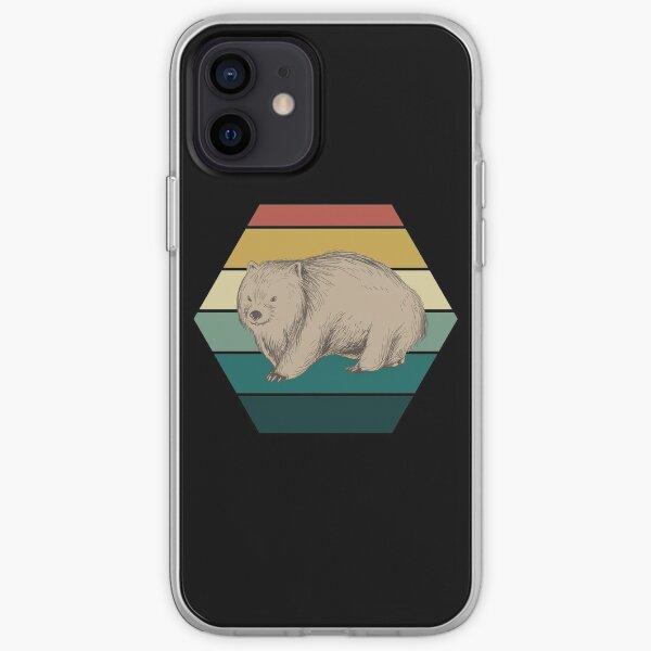 Retro wombat iPhone Soft Case