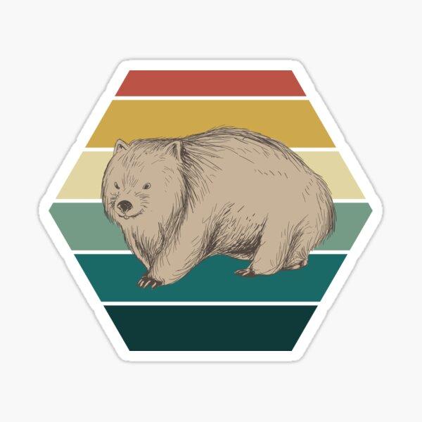Retro wombat Sticker