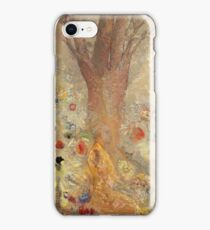 Odilon Redon - The Buddha 1904. Garden landscape: garden, trees and flowers, blossom, nature, Buddha , buddhism, meditating, think, meditation, relaxation, rest iPhone Case/Skin