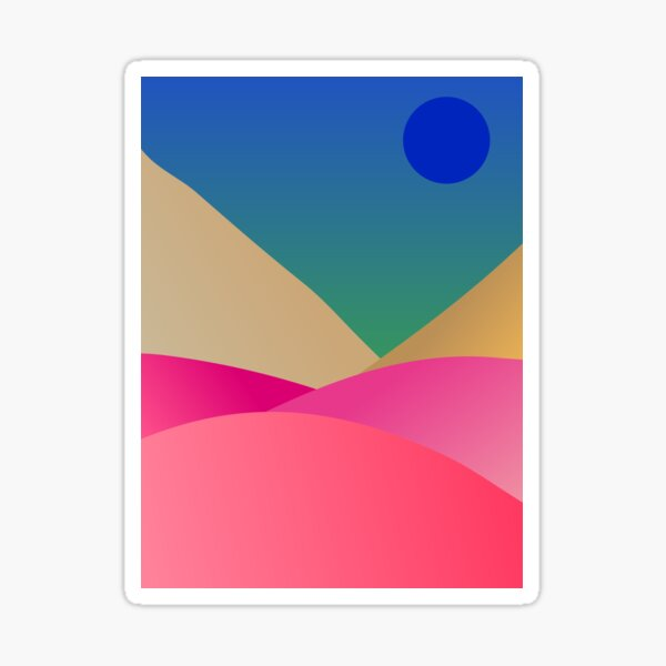 Surreal Sunset in the Mountains Sticker