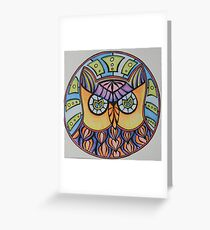 Owl Graphic Greeting Card