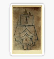 Paul Klee - Torwachterstolz. Abstract painting: abstract art, geometric,  Man , composition, lines, forms, creative fusion, spot, shape, illusion, fantasy future Sticker