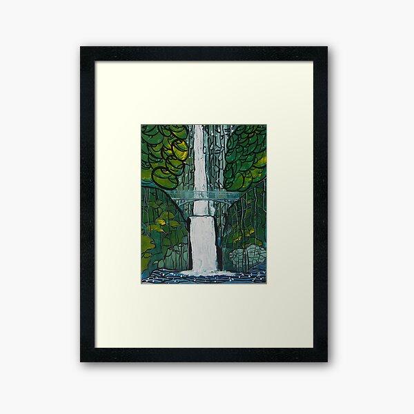 Multnomah Falls Painting Framed Art Print