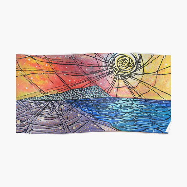 Seaside Abstract Painting Poster