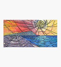 Seaside Abstract Painting Photographic Print
