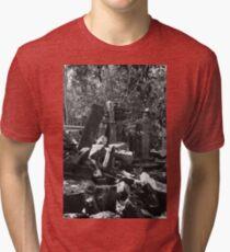 Fallen Building 2, Siem Reap, Cambodia Tri-blend T-Shirt