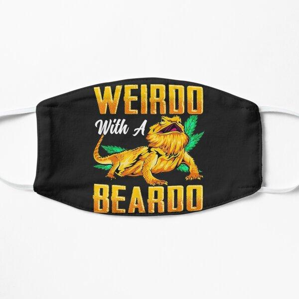 Weirdo With A Beardo Bearded Dragon Beardie Lover Flat Mask