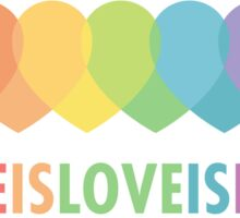 Love Is Love Is Love (Vintage) Sticker