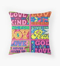 Love Is - Polyptych Throw Pillow
