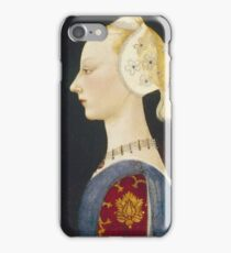 Paolo Uccello - A Young Lady Of Fashion. Woman portrait: sensual woman,  brocade, costume, courtier, beautiful dress,  lady, madame,  Mirror, love, sexy lady, Accessories iPhone Case/Skin