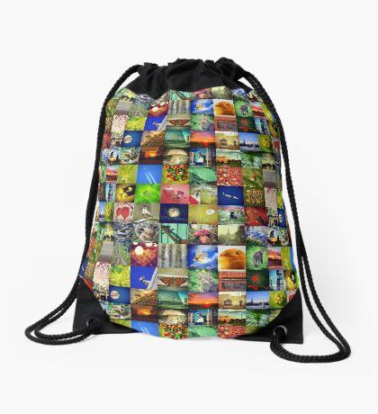 BlackHalt`s Instagram Photos Drawstring Bag