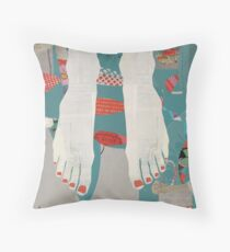Barefoot Throw Pillow