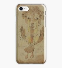 Paul Klee - Angelus Novus. Abstract painting: abstract art, geometric, Angelus,  Novus, lines, forms, creative fusion, spot, shape, illusion, fantasy future iPhone Case/Skin