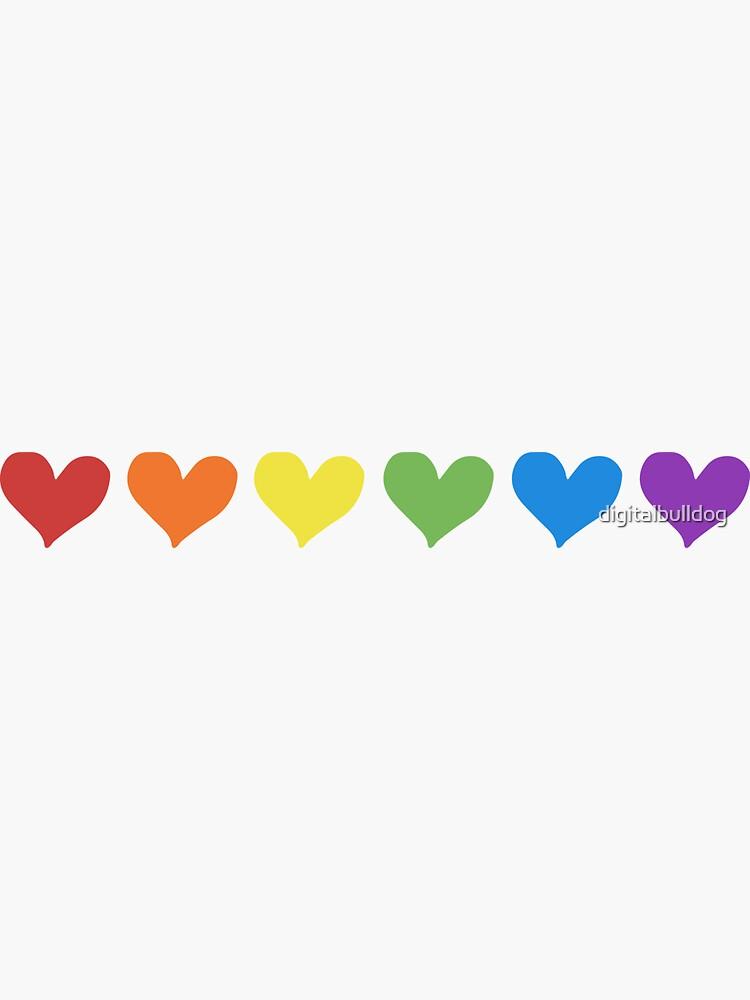 Liebe und Glück. Regenbogenherzen sind für alle! von digitalbulldog