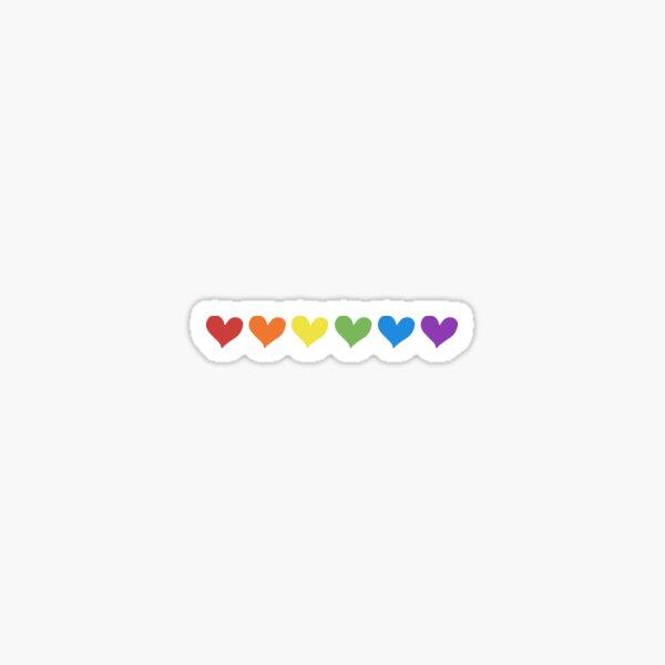 Liebe und Glück. Regenbogenherzen sind für alle! Sticker