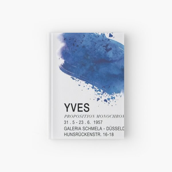 Proposition monochromes yves klein Hardcover Journal
