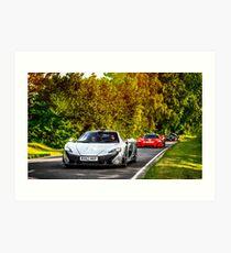 McLaren Hypercar Lineup P1, P1 GTR, F1 GTR Long Tail Art Print