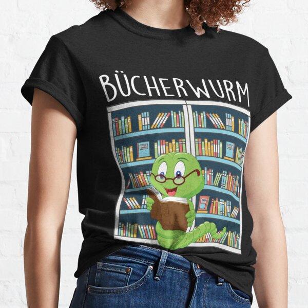 Bucherwurm in der Bibliothek Classic T-Shirt