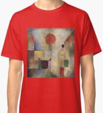 Paul Klee - Red Balloon. Abstract painting: abstract art, geometric, Balloon, composition, lines, forms, creative fusion, spot, shape, illusion, fantasy future Classic T-Shirt