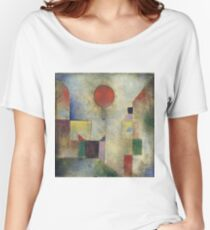Paul Klee - Red Balloon. Abstract painting: abstract art, geometric, Balloon, composition, lines, forms, creative fusion, spot, shape, illusion, fantasy future Women's Relaxed Fit T-Shirt