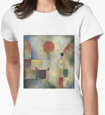 Paul Klee - Red Balloon. Abstract painting: abstract art, geometric, Balloon, composition, lines, forms, creative fusion, spot, shape, illusion, fantasy future T-Shirt