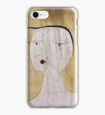 Paul Klee - Sealed Woman. Abstract painting: abstract art, geometric, Sealed,  Woman, lines, forms, creative fusion, spot, shape, illusion, fantasy future iPhone Case/Skin