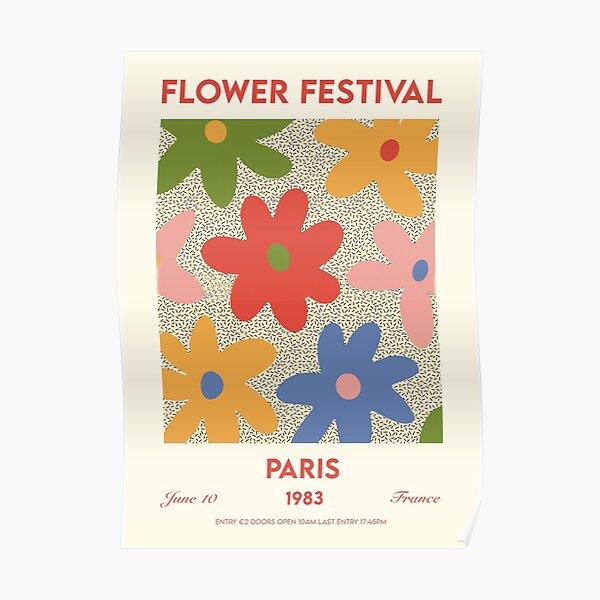 Flower festival paris Poster