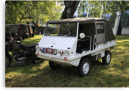 Steyr Puch Haflinger Canvas Prints By Mythos57 Redbubble