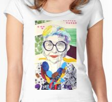 Iris Apfel fanart Women's Fitted Scoop T-Shirt