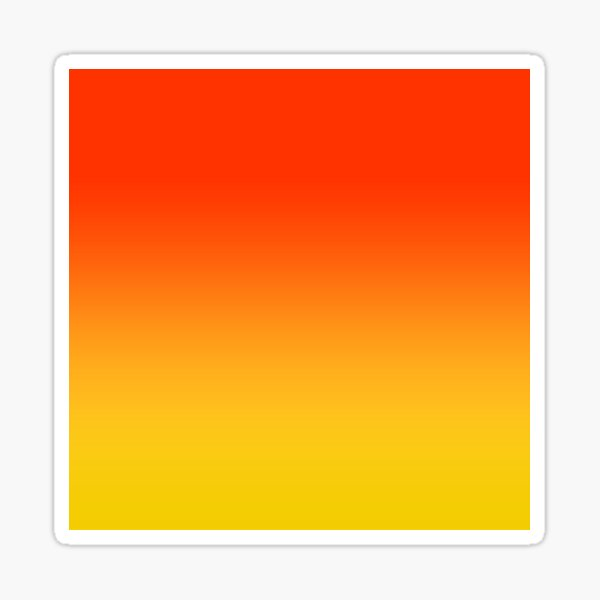 OMBRE GRADIENT ORANGE RED AND YELLOW ONE OF 100 CHIC OMBRE 2 TONE DESIGNS ON OZCUSHIONS Sticker