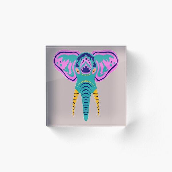 Copie de tête d'éléphant Bloc acrylique