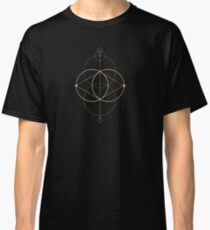 Camiseta clásica Geometría de máquinas doradas