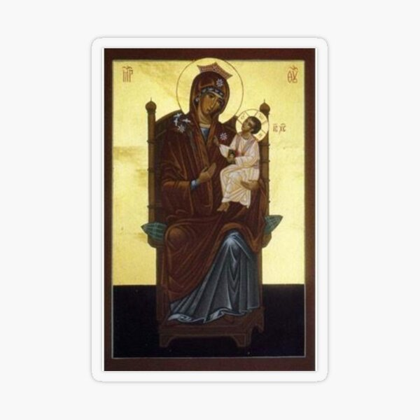 Our Lady Of Walsingham - The Theotokos Transparent Sticker