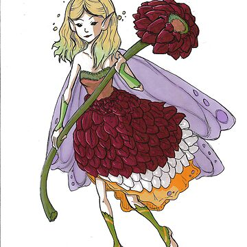 Ruby Flower Fairy by leannemarie