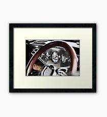 Vintage Classic Car Dashboard Framed Print