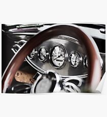 Vintage Classic Car Dashboard Poster