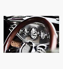 Vintage Classic Car Dashboard Photographic Print