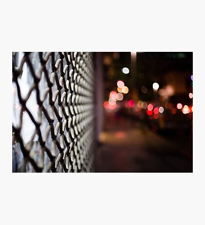 blurred street Photographic Print