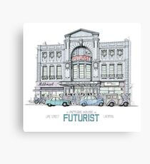 Futurist Cinema, Liverpool Canvas Print