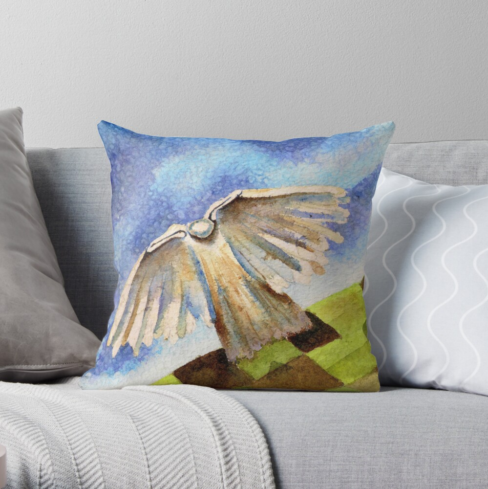Angel on High Throw Pillow