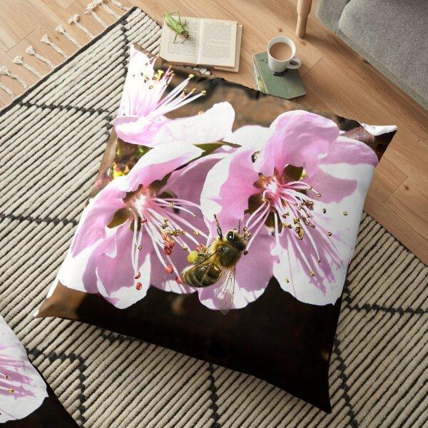 Honey bee VI / Swiss Artwork Photography Floor Pillow