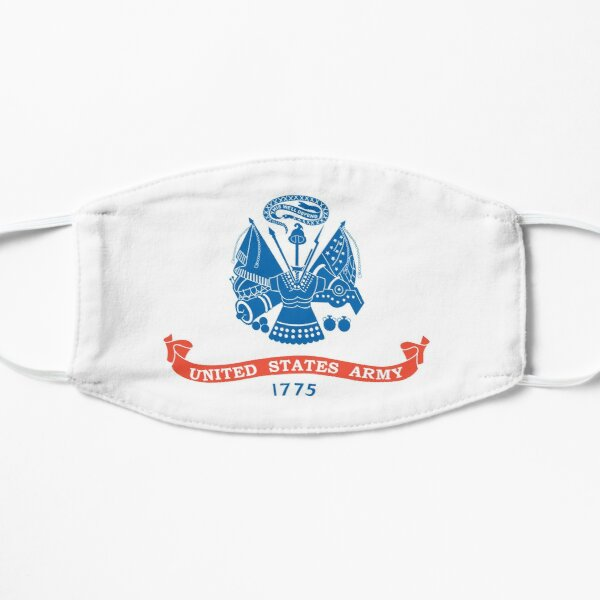 US ARMY, Military, USA, United States Army, American, 1775, Official flag, America. Flat Mask