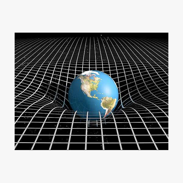 Space Time and Gravity Photographic Print