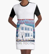 Love Tooting (Tooting Library) Graphic T-Shirt Dress